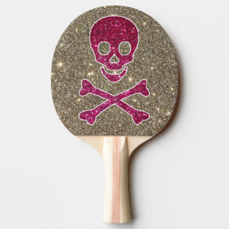 Raquette De Ping Pong Palette rose et argentée de ping-pong de