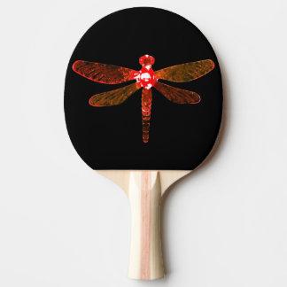 Raquette De Ping Pong Palette rouge de ping-pong de libellule