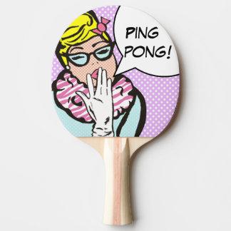Raquette De Ping Pong Palette snob de ping-pong d'art de Madame bruit