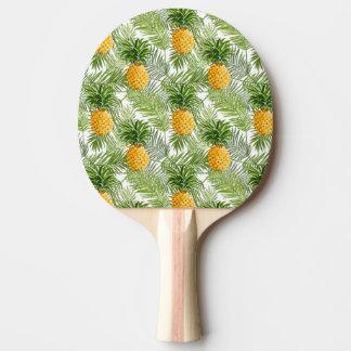 Raquette De Ping Pong Palmettes et ananas tropicaux