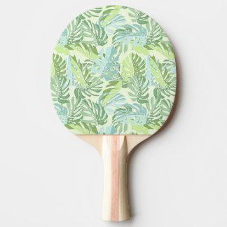 Raquette De Ping Pong Palmettes tropicales en pastel