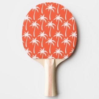 Raquette De Ping Pong Palmiers - palette de ping-pong, dos rouge en