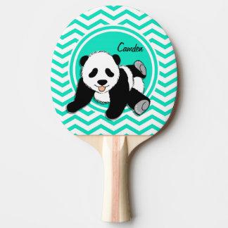 Raquette De Ping Pong Panda de bébé ; Aqua Chevron vert