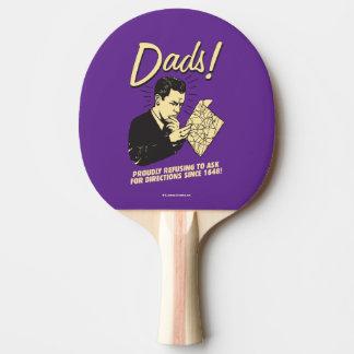 Raquette De Ping Pong Papas : Refuser de demander des directions