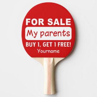 Raquette De Ping Pong PARENTS À VENDRE la palette faite sur commande de