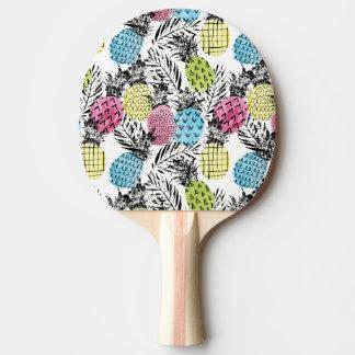 Raquette De Ping Pong Paumes de grunge d'ananas