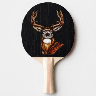 Raquette De Ping Pong Pays rustique de cerfs communs en bois en bois