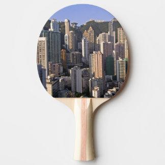 Raquette De Ping Pong Paysage urbain de Hong Kong, Chine