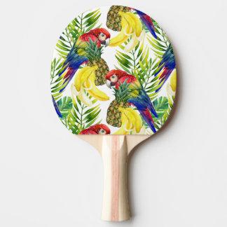Raquette De Ping Pong Perroquets et fruit tropical