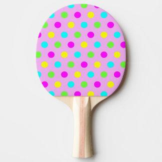 Raquette De Ping Pong Pois coloré drôle - palette de ping-pong
