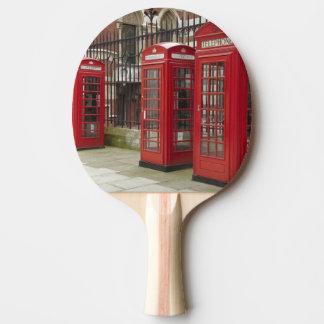 Raquette De Ping Pong Rangée des boîtes de téléphone au fond du royal
