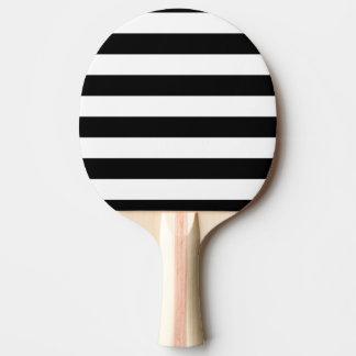 Raquette De Ping Pong Rayures noires et blanches de base