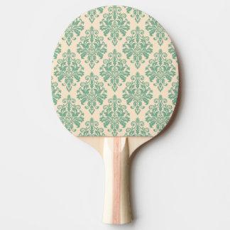 Raquette De Ping Pong Rétro motif vintage élégant de damassé