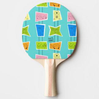 Raquette De Ping Pong Rétro palette atomique de ping-pong de kitsch