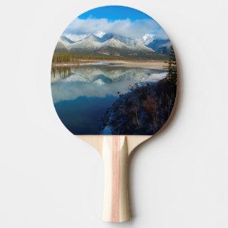 Raquette De Ping Pong Rivière d'Athabasca, parc national de jaspe,