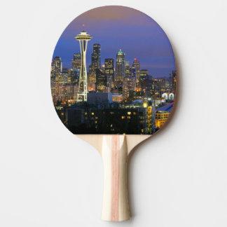 Raquette De Ping Pong Seattle vu du parc de Kerry dans la Reine Anne