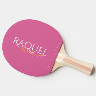Raquette De Ping Pong signature rose féminine de table_tennis