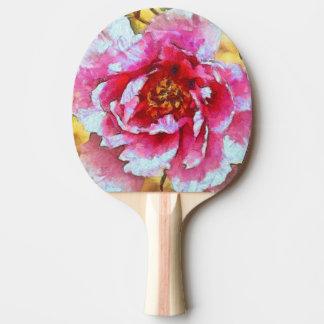 Raquette De Ping Pong Style rose de Van Gogh de pivoine