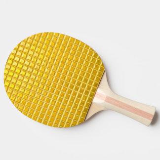 Raquette De Ping Pong textures brillantes de motif d'or