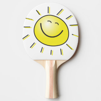 Raquette De Ping Pong Vous êtes mon visage de smiley de soleil