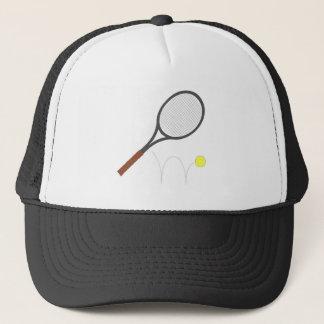 Raquette et boule de tennis casquette