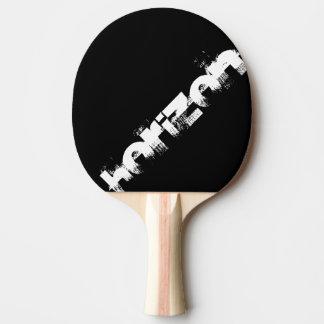raquette noire et orange à personnaliser horizon raquette de ping pong