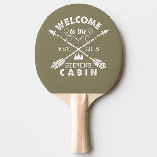 Raquette Tennis De Table Accueillez aux flèches rustiques du cabine |