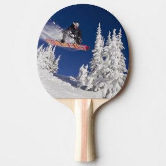 Raquette Tennis De Table Action de snowboarding à la station de sports de
