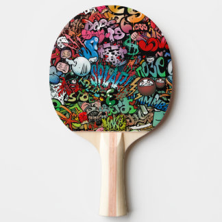 Raquette Tennis De Table Art urbain dynamique et explosif Graffit