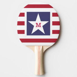 Raquette Tennis De Table Bannière étoilée personnalisable Etats-Unis