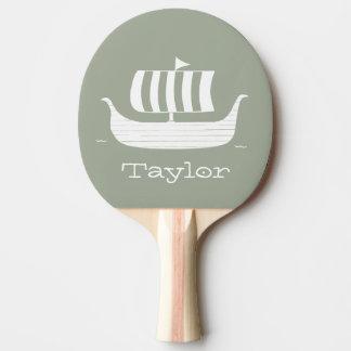 Raquette Tennis De Table Bateau/chaloupe de Viking avec la couleur faite