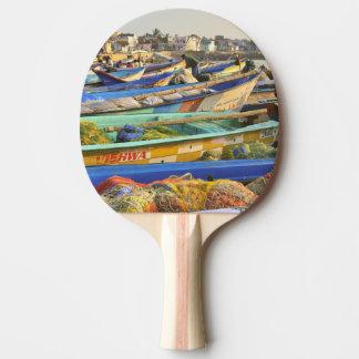 Raquette Tennis De Table Bateaux étant préparés pour pêcher, l'église de