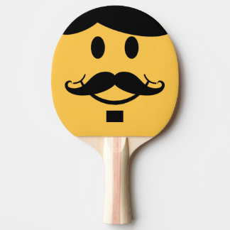 Raquette Tennis De Table Batte souriante de ping-pong de moustache drôle