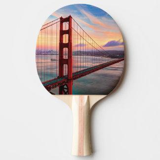 Raquette Tennis De Table Beau coucher du soleil d'hiver chez golden gate