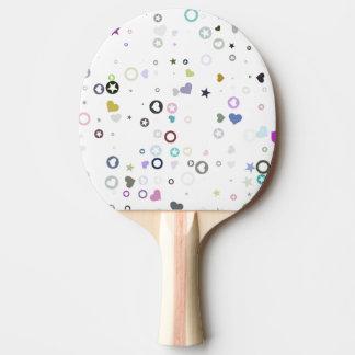 Raquette Tennis De Table belle conception gentille d'abrégé sur formes de