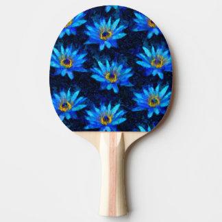Raquette Tennis De Table bleu de nénuphar de Van Gogh