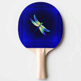 Raquette Tennis De Table Bleu électrique de libellule - personnalisez avec
