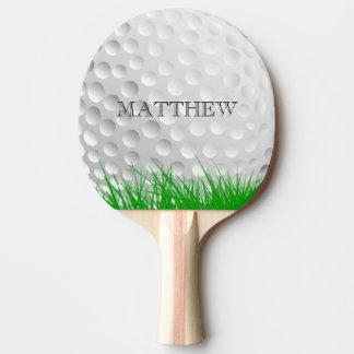 Raquette Tennis De Table Boule de golf dans l'herbe personnalisée