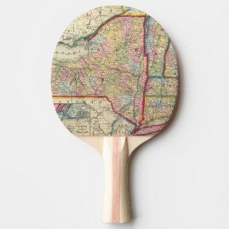 Raquette Tennis De Table Carte du comté des états de New York