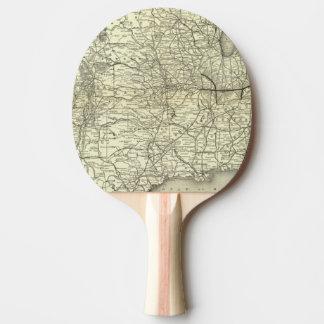 Raquette Tennis De Table Carte Ohio et chemin de fer du Mississippi