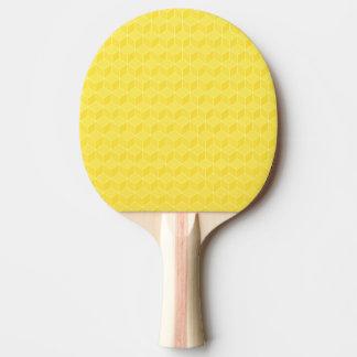 Raquette Tennis De Table Cascader lumineux de cubes en jaune 3D