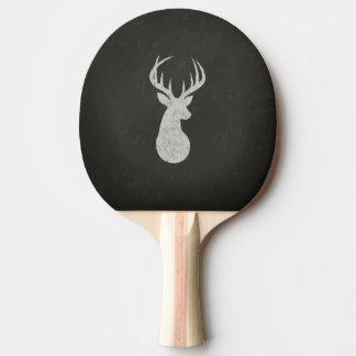 Raquette Tennis De Table Cerfs communs avec le dessin de craie