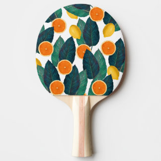 Raquette Tennis De Table Citrons et oranges blancs
