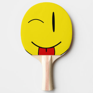 Raquette Tennis De Table Cligner de l'oeil le sourire collant la langue