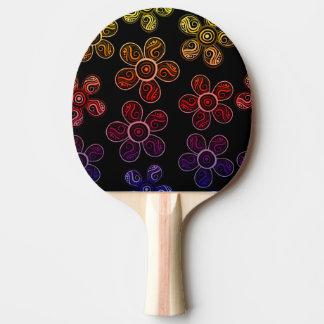 Raquette Tennis De Table Conception super de fleurs d'arc-en-ciel