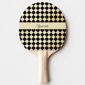 Raquette Tennis De Table Contrôleurs élégants d'or de noir et de Faux