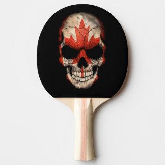Raquette Tennis De Table Crâne canadien de drapeau