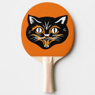 Raquette Tennis De Table Crocs classiques vintages de visage de chat noir