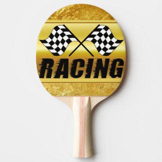 Raquette Tennis De Table Deux drapeaux de emballage checkered pour la