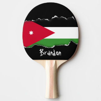 Raquette Tennis De Table Drapeau de la Jordanie